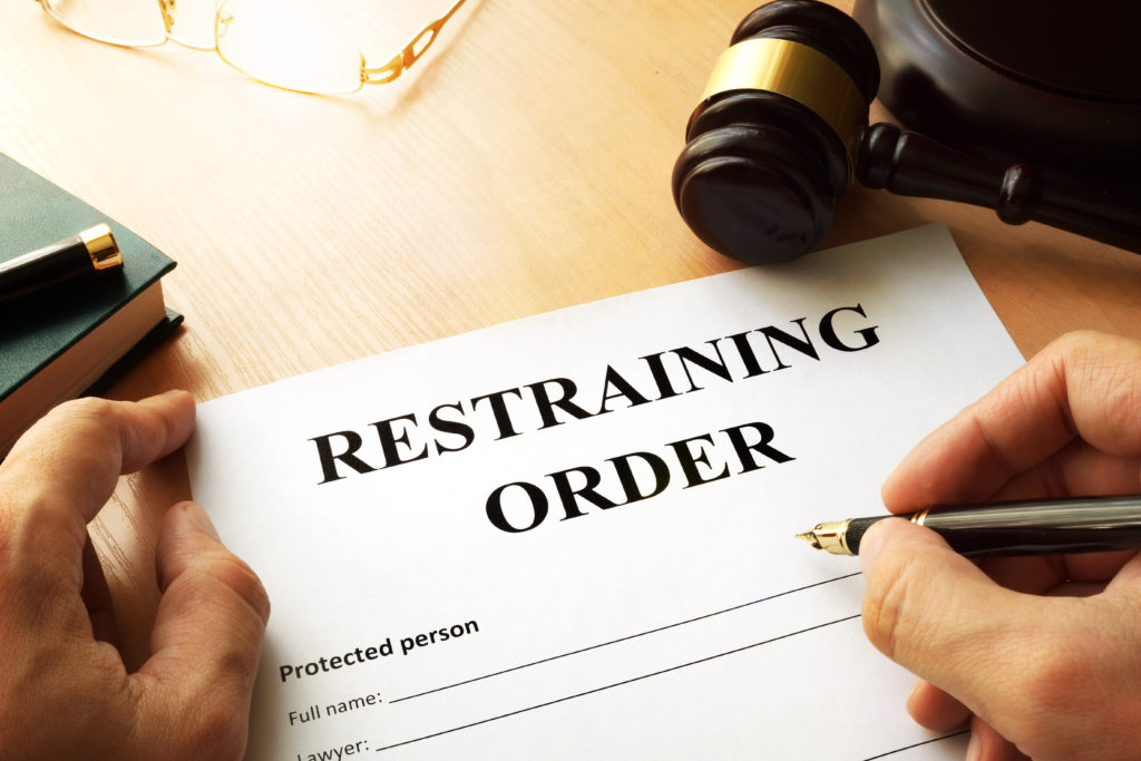 Photo of a restraining order